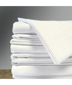"White Flat Sheets, 54"" x 81"", (12/cs)"