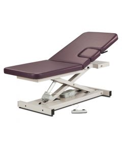 Height Adjustable Echocardiography table with window drop and adjustable backrest
