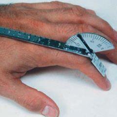 Finger Goniometer, Stainless Steel