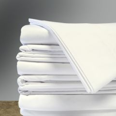 "White Flat Sheets, 54"" x 77"", (12/cs)"