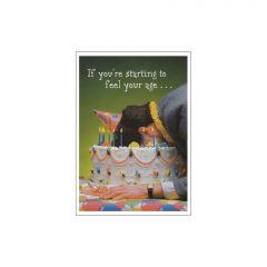 Feeling Your Age Birthday Postcard