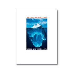 Iceberg Poster, Laminated