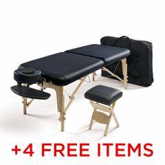 Sukha Deluxe Portable Massage Table Bundle