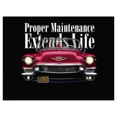 Proper Maintenance Poster, Paper