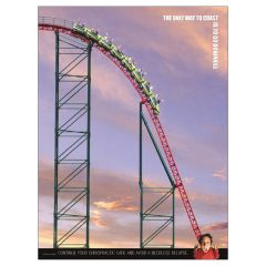 Roller Coaster Poster, Laminated