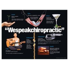 We Speak Chiropractic Poster, Laminated