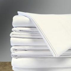 Sukha T200 Percale Flat Sheets, 12/pk