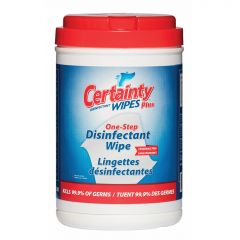 Certainty Plus Disinfectant - 200 Wipes/Canister