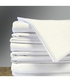 "White Flat Sheets, 54"" x 81"", (12/cs)"