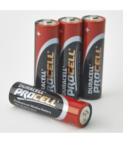 Battery, Alkaline, Size AA, 4/cs