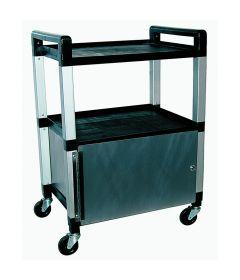 3 Shelf Poly Locking-Cabinet Cart