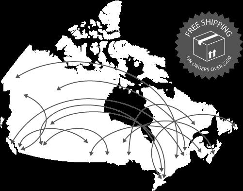 We ship anywhere across Canada